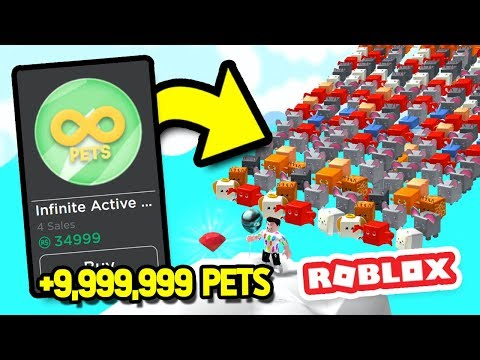 BUYING INFINITE PETS WITH A 35K GAMEPASS in BALLOON SIMULATOR