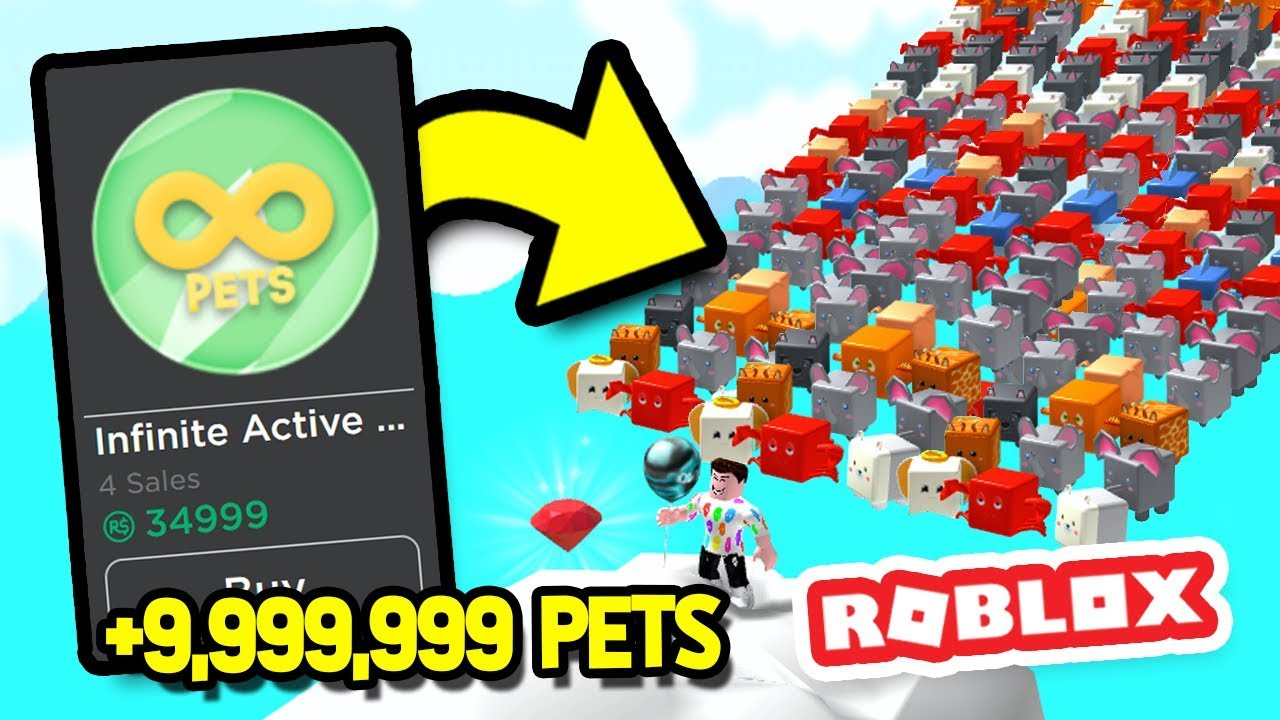 Buying Infinite Pets With A 35k Gamepass In Balloon Simulator - balloon gamepass roblox