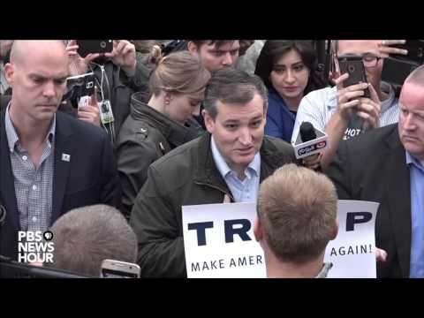 Ted Cruz debates with Trump supporter in Indiana