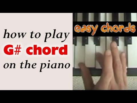 G Chord Piano How To Play G Sharp Major Chord On The Piano Youtube