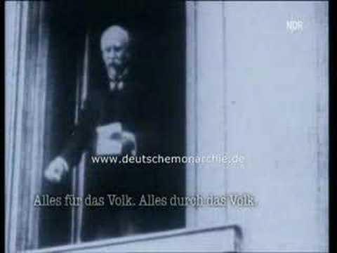 Philipp Scheidemann - Ausrufung der Republik - Video + Ton!