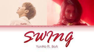 U-Know Yunho 유노윤호  - Swing feat. BoA 보아 (Han/Rom/Eng) Color Coded Lyrics/가사
