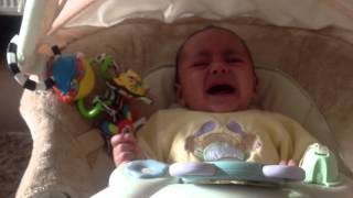 Baby scared of pressure cooker whistle
