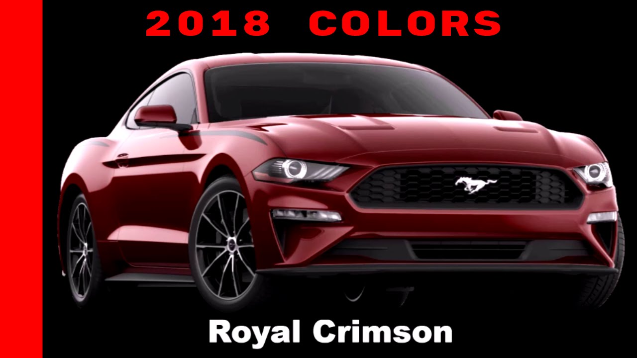 Ford Mustang 2018 Colors