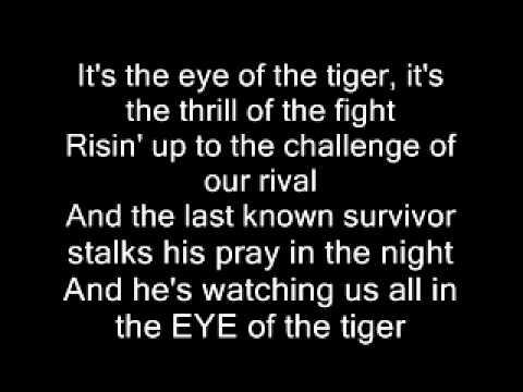 Songtext von Survivor - Eye of the Tiger Lyrics