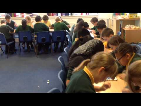 Maths lesson starters using iPads