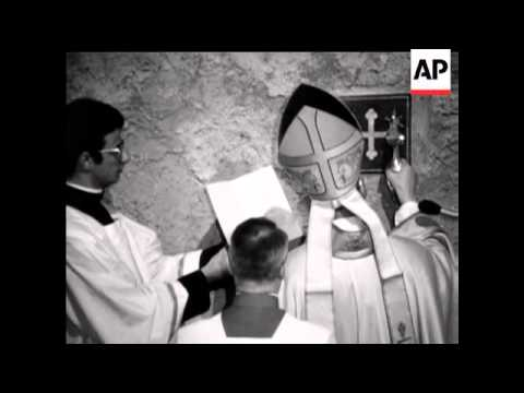 Pope Opens Holy Door - 1975