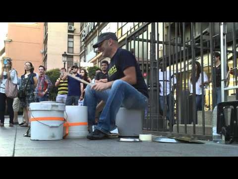 Doctor Bucket Man In Madrid