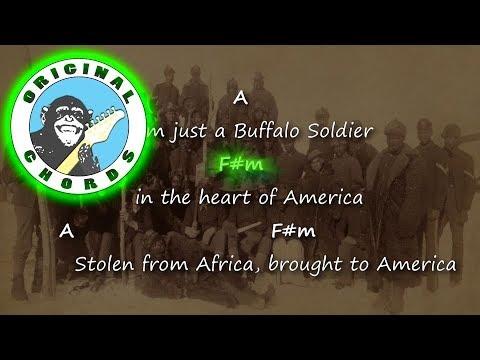 Bob Marley Buffalo Soldier Chords Lyrics Youtube