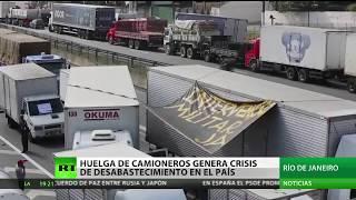 Brasil: Huelga de camioneros genera crisis de desabastecimiento en el país