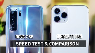 Huawei Nova 7 SE vs iPhone 11 Pro SPEED TEST | Zeibiz