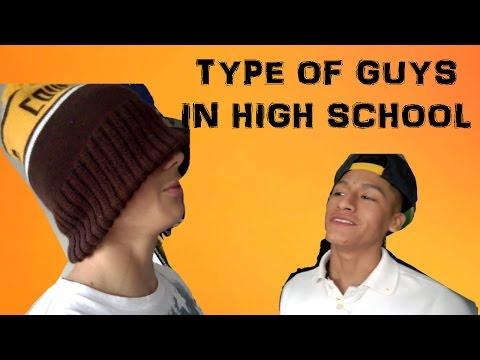 types of guys in high school