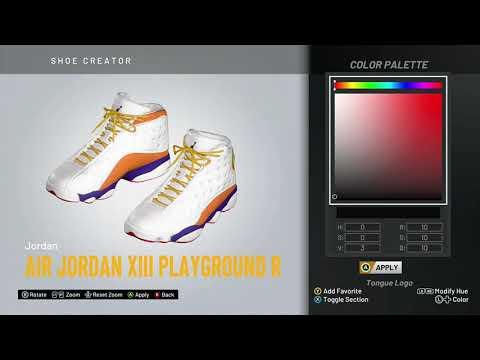 "NBA 2K20 Shoe Creator - Air Jordan 13 ""Playground"" (Right Shoe)"