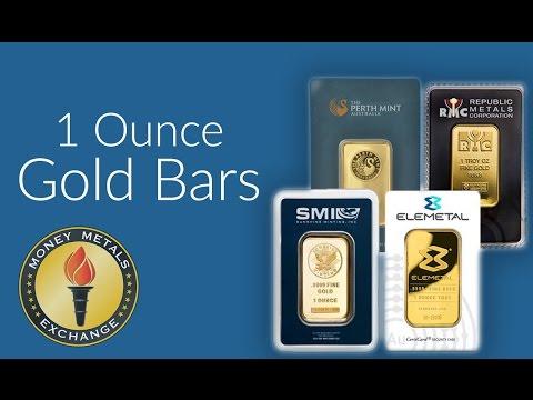 1 oz Gold Bar | Money Metals Exchange