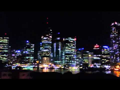 Brisbane city at night from the Story Bridge