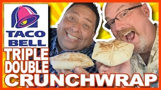 Taco Bell Spicy Triple Double Crunchwrap with JoeysWorldTour | KBDProductionsTV