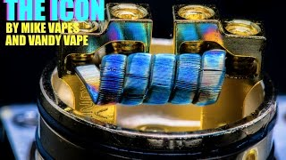 The Icon RDA by Mike Vapes and Vandy Vape Swallows a 16 Ply Staple Coil Build