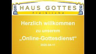 2020-04-11 Onlinegottesdienst - Pessach 2020