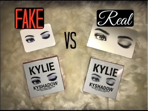 Fake Vs Real Kylie Kyshadow Palette Holiday Edition