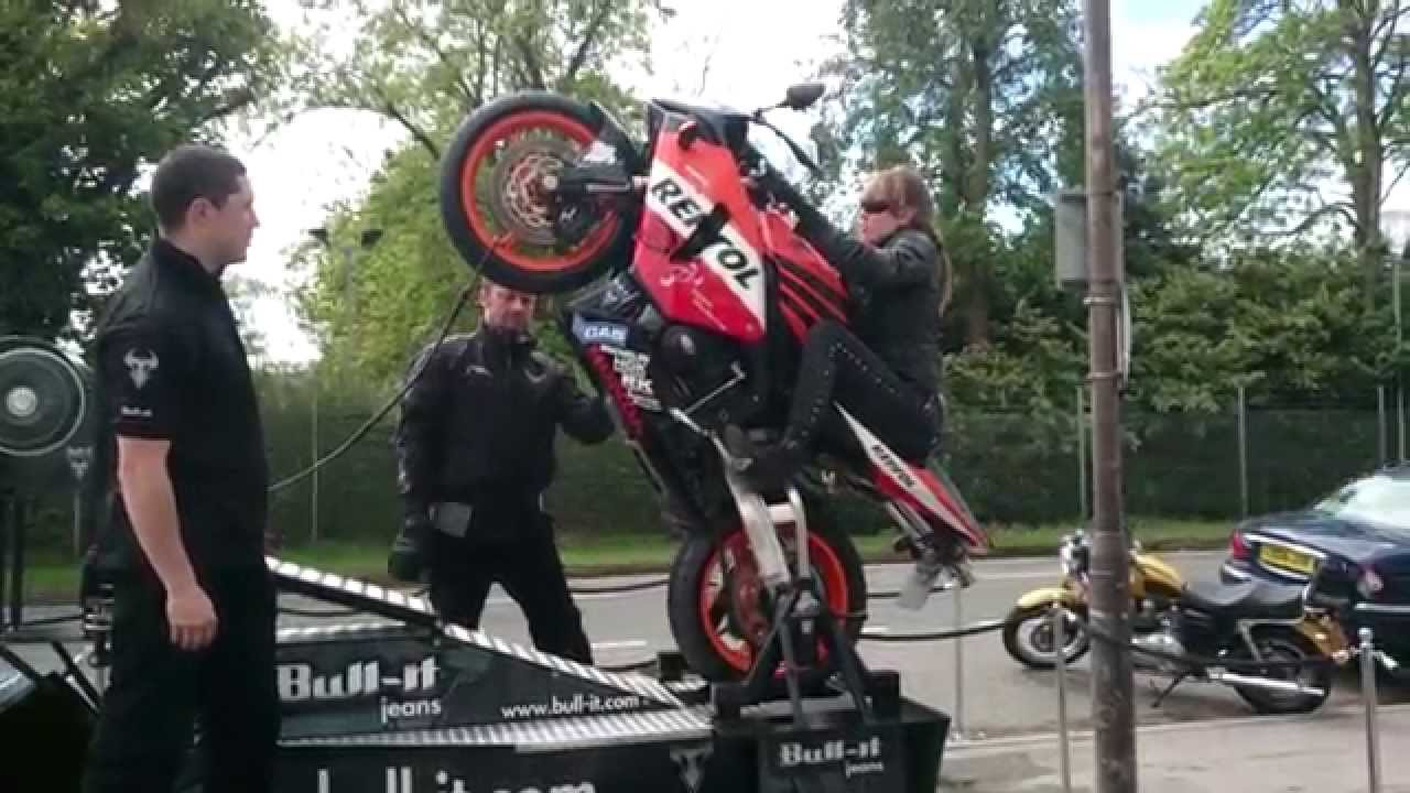 motorcycle wheelie machine