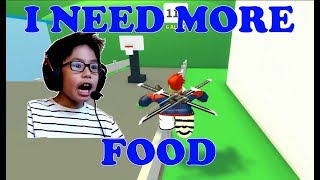 ROBLOX EAT OR DIE: 2 FAT BOYS RUNNING AROUND and EAT EVERYTHING BEFORE BEING SMASHED