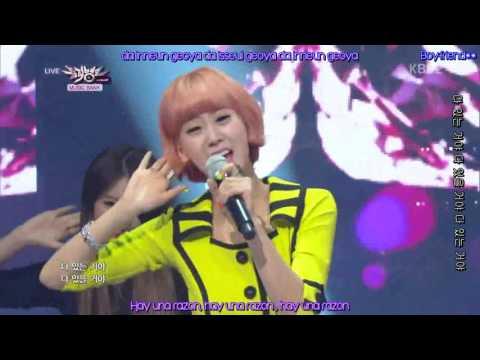 BESTie - Love Options - KBS Music Bank [ Sub Español+Hangul+Romanizacion ]