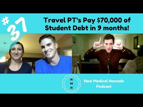 Ep. 37 Dr.'s Geena and Garrett Cesca: Paying $70,000 of Student Debt in 10 months as Travel PT's