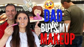 My Dad Buys My MAKEUP Challenge 2017 | GONE WRONG !!!!