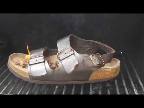 de35e6adf70f Burning a Birkenstock sandal