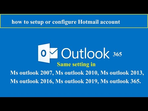 Hotmail setup in Ms outlook   outlook 2016 Hotmail settings   how to setup Hotmail in outlook