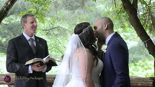 Christian wedding ceremony in Cop Cot in Central Park