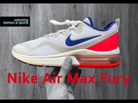 nike-air-max-fury-'white/ultramarine-solar-red'-|-unboxing-&-on-feet-|-fashion-shoes-|-2018-|-4k