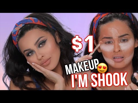 FULL FACE $1 MAKEUP TESTED | IS IT GOOD?!