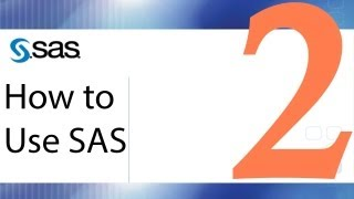 How to Use SAS - Lesson 2 - Creating Datasets on the Fly