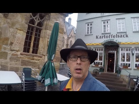 Alsfeld Old Town Germany Travel Video Rainy Evening