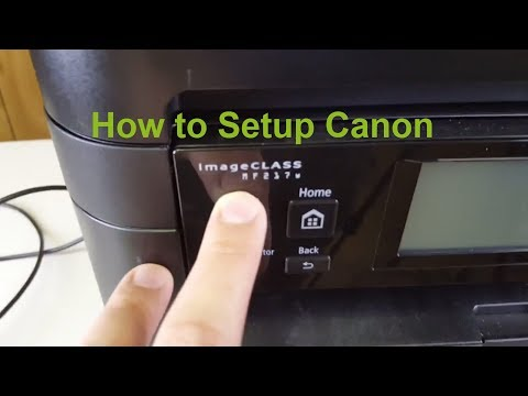 How to connect Canon ImageCLASS MF217W by cable and wireless to PC