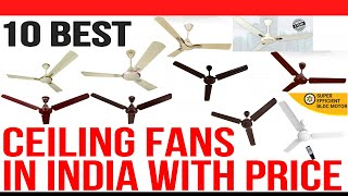 Top 10 Best Ceiling Fans in India with Price | Best Ceiling Fan Under 1500 | 2020