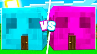 Ultimate Boy vs Girl Minecraft SLIME HOUSE BATTLE Challenge!