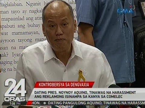 Dating Pres. Noynoy Aquino, tinawag na harassment ang reklamong isinampa sa kanya sa Comelec