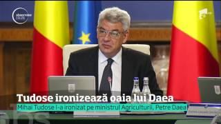 Momente amuzante la Palatul Victoria. Mihai Tudose l-a ironizat pe ministrul Agriculturii Petre Daea