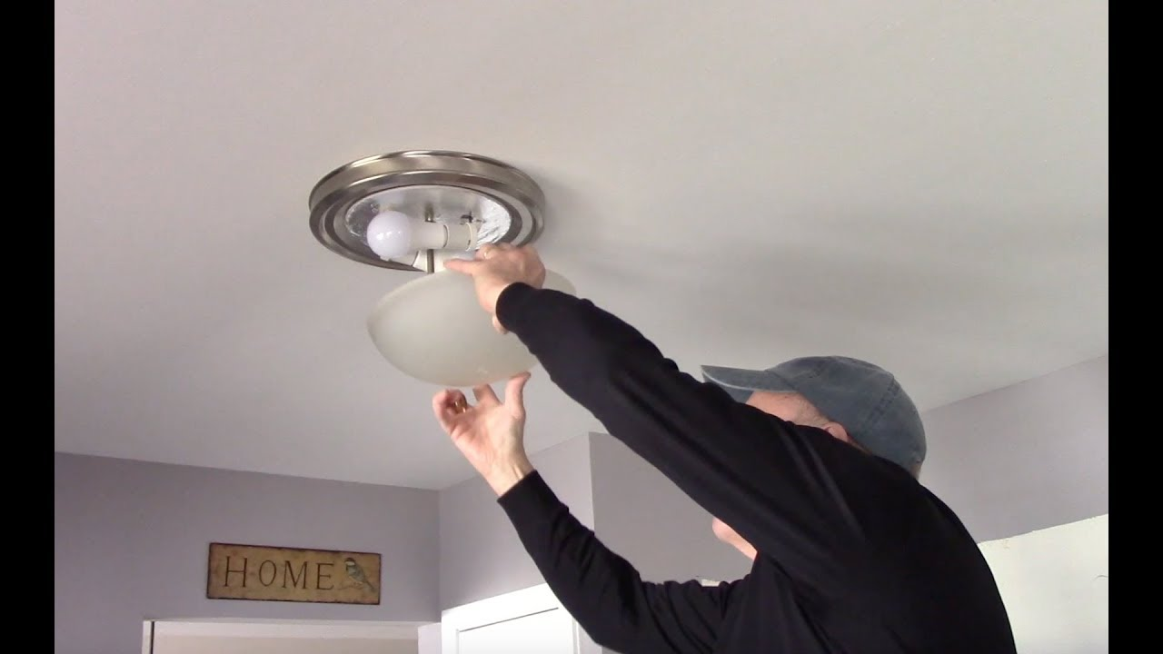 Light Bulbs In A Ceiling Fixture, How To Change A Chandelier Light Bulb