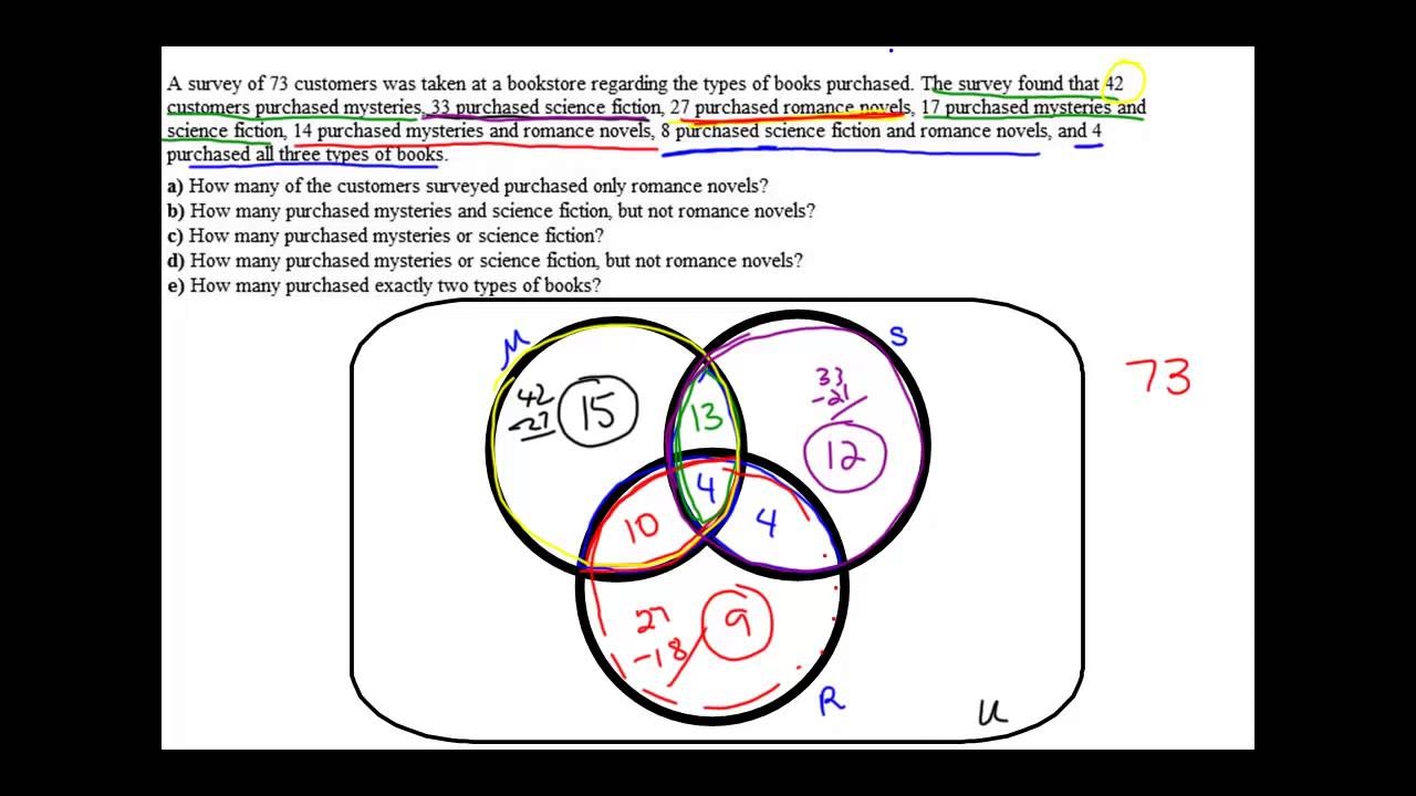 25 venn diagram application problem 3 sets youtube pooptronica Image collections