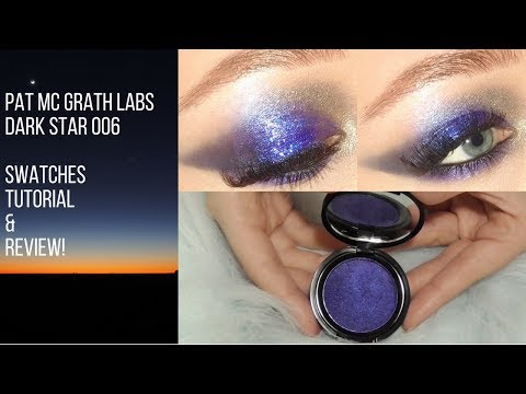 Pat McGrath DARK STAR 006 ULTRA VIOLET BLUE | Unboxing, Swatches, and Demo