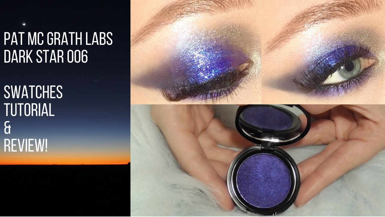 pat mcgrath dark star 006 ultra violet blue unboxing swatches
