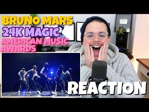 Bruno Mars - 24K Magic | American Music Awards | REACTION