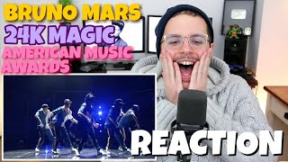 Bruno Mars - 24K Magic | American Music Awards | REACTION