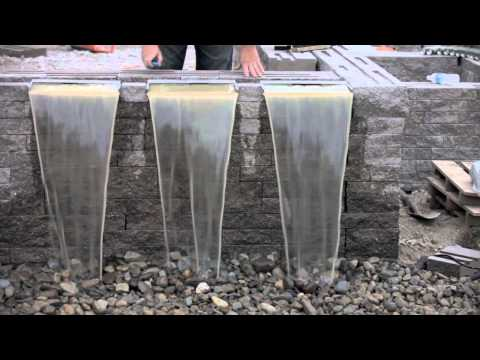 a tutorial to make a homemade waterfall in a pond