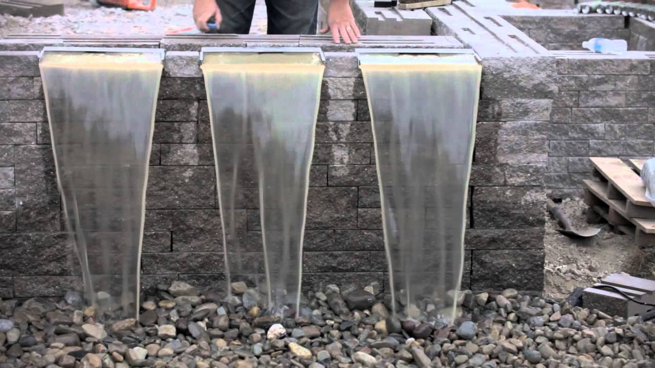 Waterfall spillways with aquascape youtube for Build your own waterfall pond