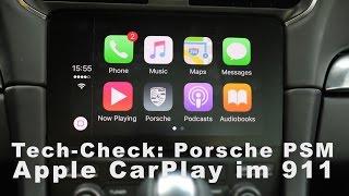 Tech Check: Apple Car Play im neuen Porsche 911 (991-II) - 2016