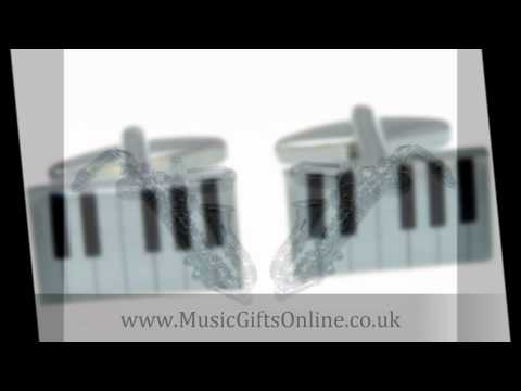 Music Cufflinks - Guitar cufflinks, Piano cufflinks and more from Music Gifts Online